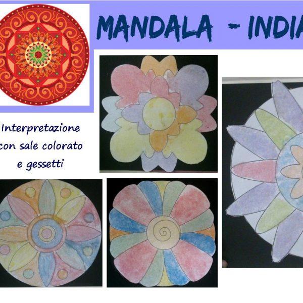 L'arte dei popoli: Mandala India, interpretazione con sale colorato e gessetti