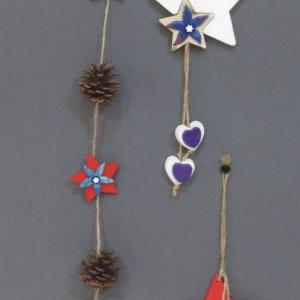 Creazioni in pasta Fimo: decorazioni a stelle per natale