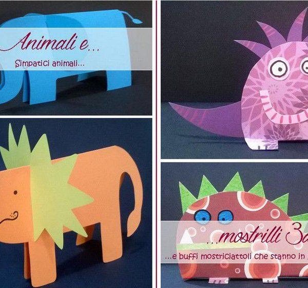 Laboratori creativi esperienziali: animali e mostrilli 3d