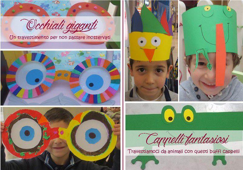 Laboratori creativi esperienziali: occhiali giganti, cappelli fantasiosi