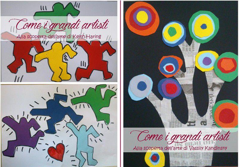 Laboratori creativi esperienziali: come i grandi artisti Keith Haring e vassily kandinsky