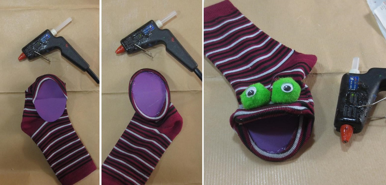 come costruire delle marionette con le calze