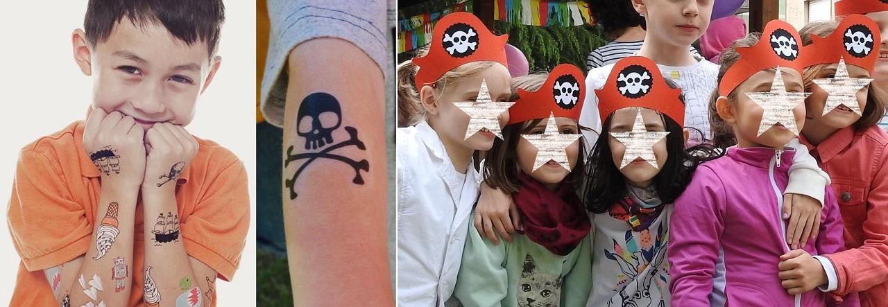 tatuaggi per una festa a tema pirati