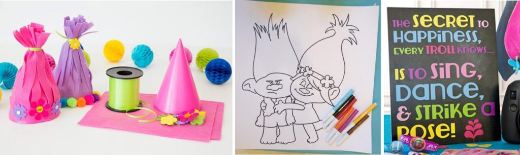 Come organizzare una festa a tema Trolls accoglienza