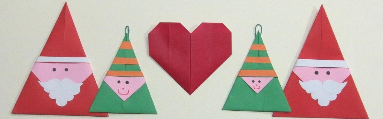 Origami Babbo Natale in evidenza